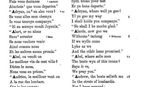 page from Caxton's Dialogues in French and English
